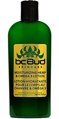 Best Cheap Deal for Hemp Body Lotion, BC Bud Moisturizing Hemp & Omega 3 Lotion, 98% Natural for Dry Skin, Itchy Skin, Paraben Free from Carapex - Free 2 Day Shipping Available