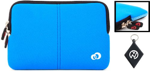 Sony VAIO S Series VPC-SA2HGX/BI 13.3 Inch Laptop Neoprene Holder With Internal Dual-Pocket Color Negro / Blue + NuVur � Keychain (ND13FTB1)