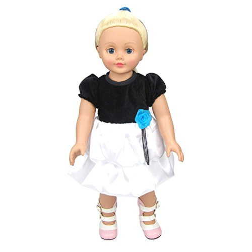 [HappyBB Baby Doll Clothes Skirt Fits 16 inches American Girl Doll - Black and White Skirt] (Ice Skating Dress Costumes)