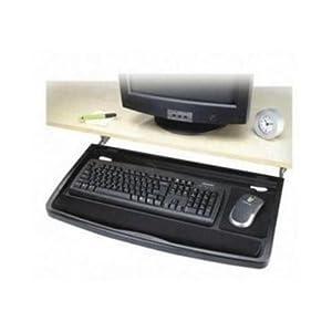 Kensington standard underdesk keyboard drawer by office for Wallpaper tray home depot