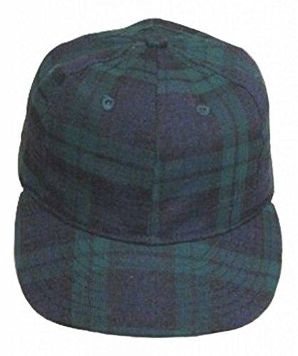 Ideal Cap Co. Black Watch Plaid Vintage Baseball Cap 1940'S Style 7 3/8 Navy/Green