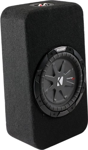 "Kicker Tcwrt82 (40Tcwrt82) Compact 8"" Loaded Comp Rt Shallow Subwoofer Truck Enclosure W/ 2 Ohm Final Impedance"