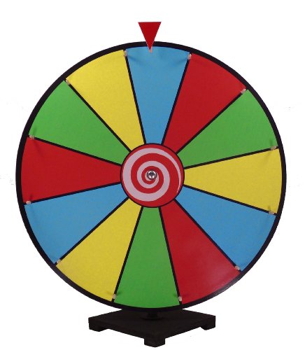 24 Inch Dry Erase Spinning Prize Wheel