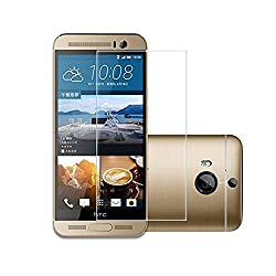 MoArmouz® Super Tempered Glass Screen Protector for HTC One M9 Plus Screen Guard Round Edge 2.5D Ultra Slim Nano 0.3mm (Not for M9) Anti-scratch / Fingerprint resistant / HD /9H Hardness 3D Touch Compatible / Mobile Accessories / Screen Protectors