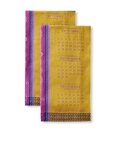 Garnier-Thiebaut Set of 2016 Kitchen Towels, Purple