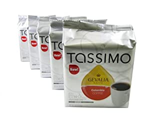 Tassimo T-Discs: Gevalia Colombia Coffee T-Discs Pods (Case of 5 packages; 70 T-Discs Total) from Kraft Foods