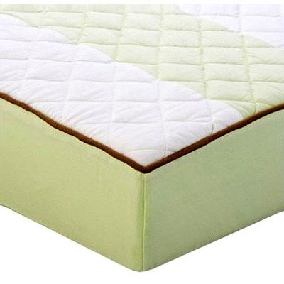 Metro Lime/White/Chocolate Quilted Changing Pad Cover