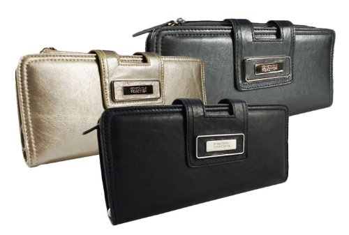 Kenneth Cole Reaction Womens Tab Closure Wristlet Clutch Wallet in Choice of Colors