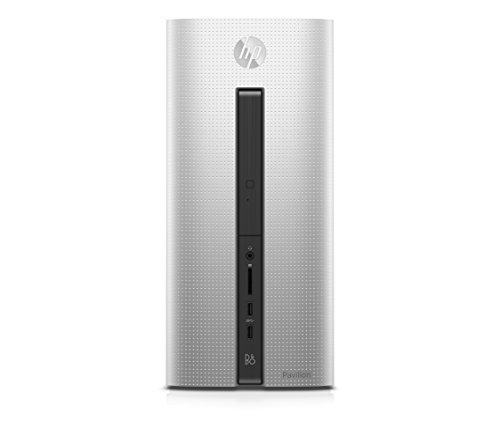 HP Pavilion 550-350nl Desktop, Processore AMD Quad-Core A10-8750, RAM 8 GB, HDD da 1 TB, Scheda Video AMD Radeon R5 330 con 2 GB dedicati, Argento
