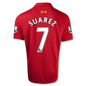 Liverpool 12-13 Suarez 7 Football Shirt Size M Home Soccer Jersey Epl Patch