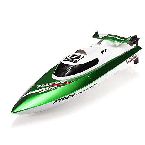 GPTOYS FTOO9 2.4Gラジコンボート 高速ラジコン船 RCスピードボート 安全ストップ機能付 自動起き上がる 対戦レース 防水仕様(ボート本体)初心者にも適合!グリーン
