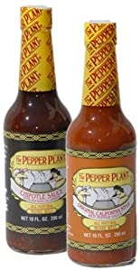 The Pepper Plant Original California Hot Sauce And Chipotle Sauce 2 Bottle Combo Pack from The Pepper Plant