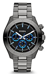 Fossil Retro Traveler Chronograph Black Dial Mens Watch - CH2869