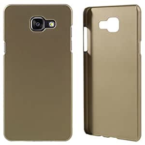 Real Shopping Rubberised Matte Hard Case Back Case Cover For Samsung Galaxy A5 2016 4G - Gold