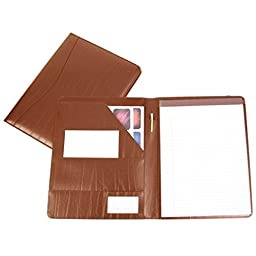Royce Leather Genuine Leather Padfolio (Tan)