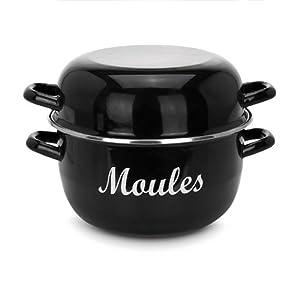 relaxdays casserole marmite moules po le moules acier. Black Bedroom Furniture Sets. Home Design Ideas