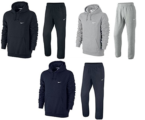 nike-mens-fleece-jog-suit-hooded-swoosh-tracksuit-hoodie-jogpant-set-black-grey-navy-s-m-l-xl-61147-