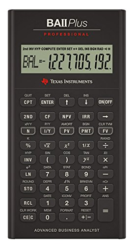 Texas Instruments BA II Plus Professional Financial Calculator (Ti Ii Plus compare prices)