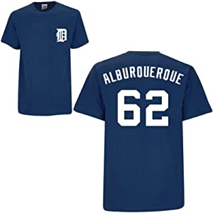 Al Alburquerque Detroit Tigers Navy Player T-Shirt by Majestic by Majestic