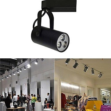 Rayshop - Black 3X1W 250Lm 2800-6500K White Light Downlight Ceiling Track Rail Spot Light Bulb(Ac85-265V) ( Color : White )