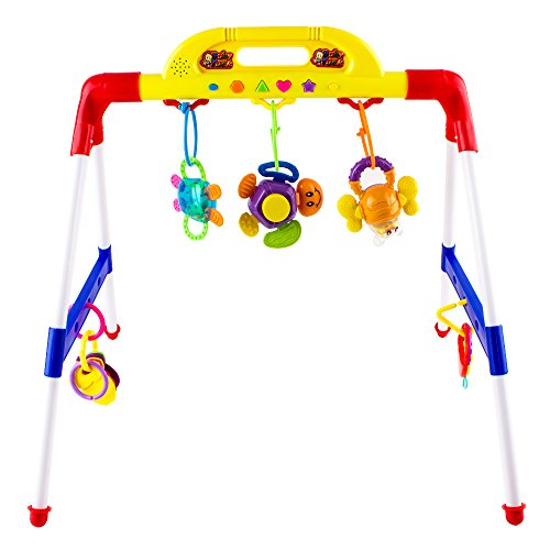 Baby Music Play Gym, Plays 14 Different Songs And Sounds, Includes Detachable Teethers, Educational Learning Activity Center for Babies