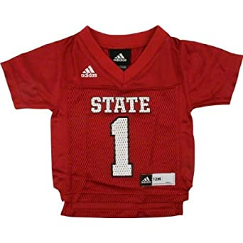 North Carolina State Wolfpack NCAA Toddler #1 Replica Jersey, Red by adidas