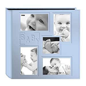 Baby Collage Picture Frames on Collage Frame Embossed  Baby  Sewn Leatherette Cover Photo Album  Baby