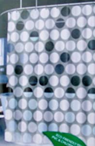 Splash Home Big Dot PEVA Shower Curtain Random White & Clear Circles On Pale Grey