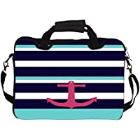 "Snoogg Anchor Multi Stripe 14"" 14.5"" 14.6"" Inch Laptop Notebook SlipCase With Shoulder Strap Handle Sleeve Soft..."