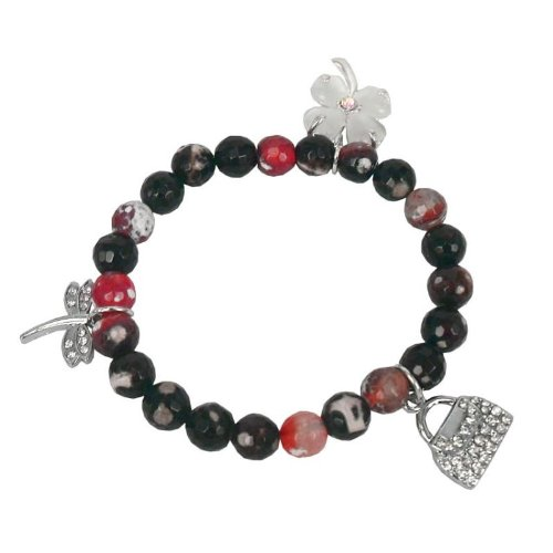 Bracelet made of agate and Charms