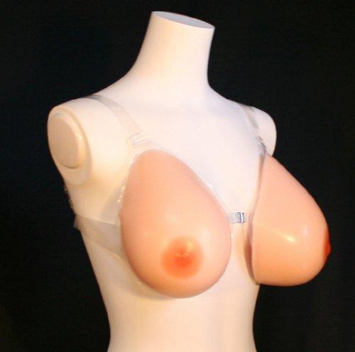 医療用メーカー制作 Iカップ透明テープのブラ付き 人工乳房 左右で2000g[SBT1000]