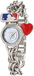 Game Time Ladies MLB-CHM-MIN Charm MLB Series Minnesota Twins 3-Hand Analog Watch by Game Time