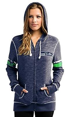 """Seattle Seahawks Women's Majestic NFL """"Athletic"""" Full Zip Hooded Sweatshirt"""