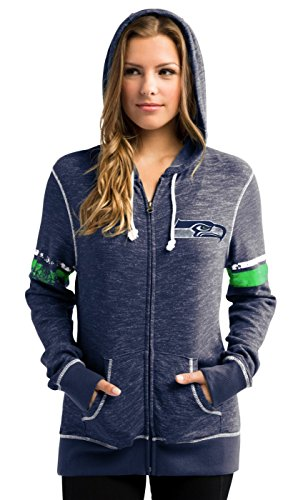 Seattle-Seahawks-Womens-Majestic-NFL-Athletic-Full-Zip-Hooded-Sweatshirt