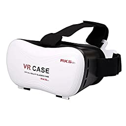 BEW 3D VR Virtual Reality Headset Glasses (5th) for 4.7 to 6 inches smartphones(VR Alone)