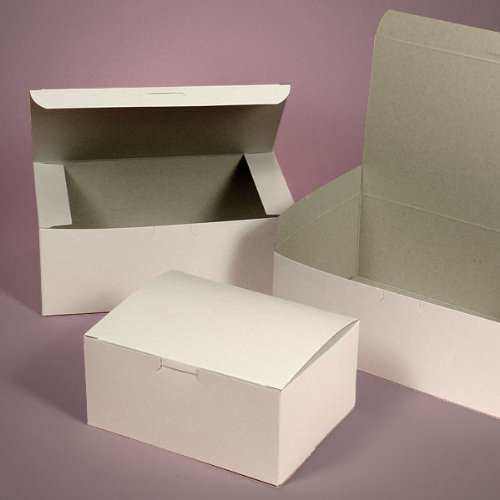 Lot of 50 Bakery Box WHITE 6x6x2.5 for Cake Slice Cookie Pastry