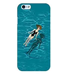 Printvisa Relaxing Girl In A Pool Back Case Cover for Apple iPhone 6S