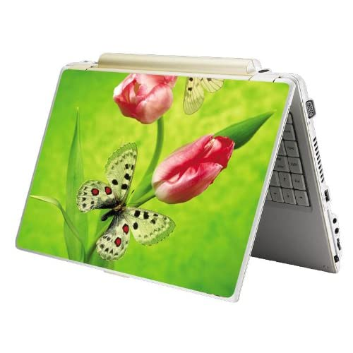 Bundle Monster MINI NETBOOK Laptop Notebook Skin Sticker Cover Art Decal   7 8 9 10   Fit HP Dell Asus Acer Eee Compaq MSI   Butterfly Flower