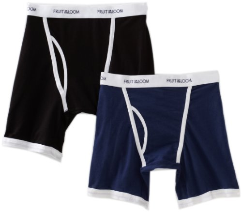 Fruit of the Loom Men's  Active Ringer Boxer Brief(Pack of 2)