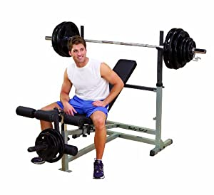 Body Solid GDIB46L Olympic Bench with Leg Developer