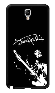 """Humor Gang Jimi Hendrix Monochrome Printed Designer Mobile Back Cover For """"Samsung Galaxy Note 3"""" (3D, Glossy, Premium Quality Snap On Case)"""