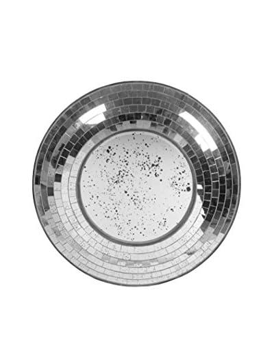 Privilege Round Beveled Glass Mosaic Mirror
