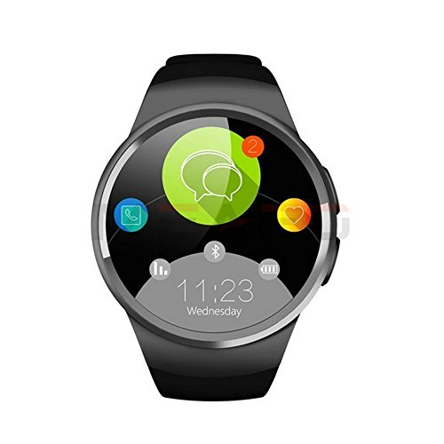 Bluetooth-Smart-Watch-Phone-KW18-Sim-And-TF-Card-Heart-Rate-Reloj-Smartwatch-Wearable-Compatible-For-IOS-Apple-iPhone-5s66sSE-Android-Samsung-HTC-Sony-LG-Smartphones