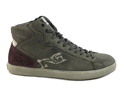 NERO GIARDINI sneakers sportiva lacci PELLE CEMENTO GRIGIO A604431U 39