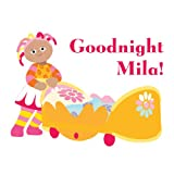 Official In the Night Garden Personalised goodnight Upsy Daisy wall sticker (Large size)