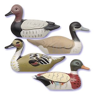 Oasis Supply Assorted Colors Cupcake/Cake Decorating Toppers, 3-Inch, Mallard Duck, Set of 4 - 1