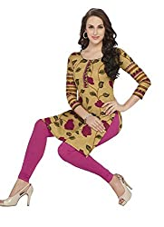 Comfortica Ethnicwear Women's Unstitched Kurti Fabric Multi-Coloured Free Size (SandhyaKala303)