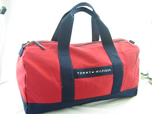 (click photo to check price). 1. Tommy Hilfiger Women s TH Sport - Core  Plus Medium Duffel Red Navy Duffel Bag ... 0f62f13fe5