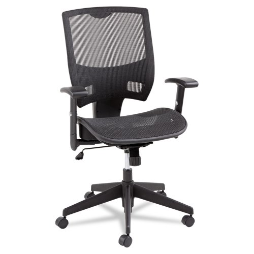 Alera Epoch Series All Mesh Multifunction Mid-Back Chair, Black Back Seat