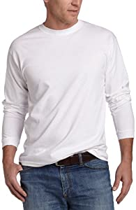 Soffe Men's Men'S Long Sleeve Cotton T-Shirt,White,XX-Large